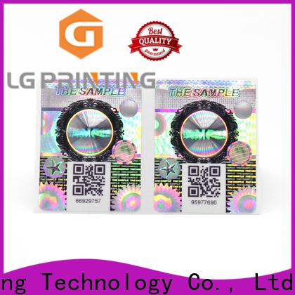 LG Printing security hologram stickers vendor