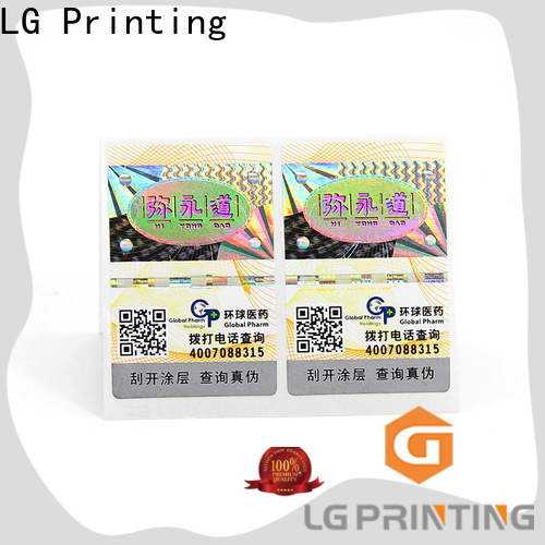 LG Printing anti counterfeit sticker factory for cosmetics