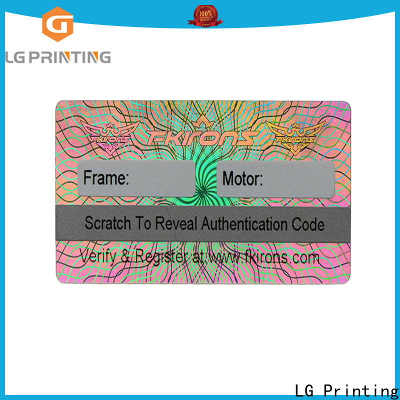 LG Printing Customized hologram sticker printer supply for pharmaceuticals