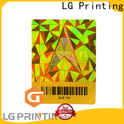 LG Printing Custom made hologram sticker printing supply for electronics