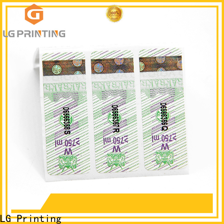 LG Printing Professional security hologram stickers price for products