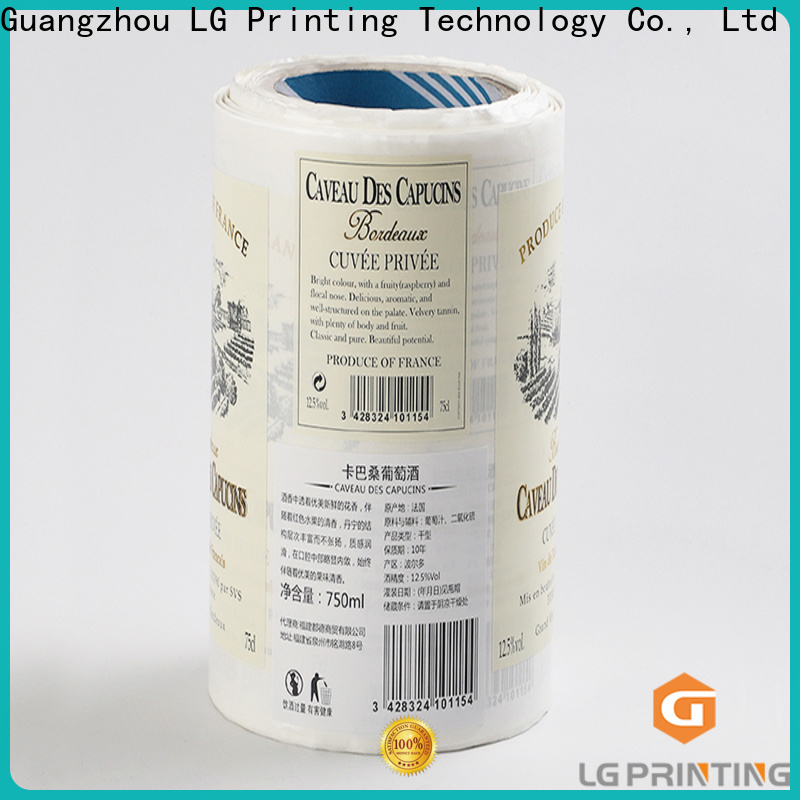 LG Printing Quality self adhesive labels for wine bottle