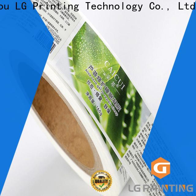 LG Printing Bulk buy waterproof beer bottle labels supply for bottle
