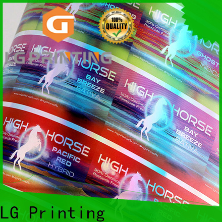 LG Printing holographic label printer suppliers for package