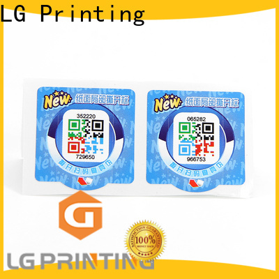 LG Printing anti counterfeiting meaning price for goods