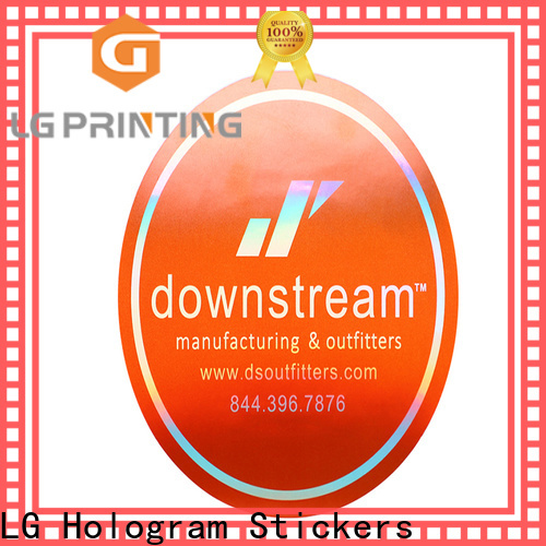 LG Printing Professional hologram seal sticker for package