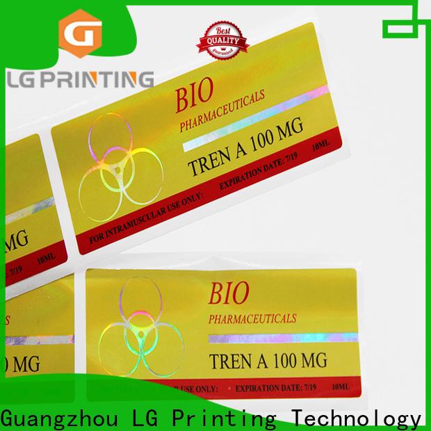 LG Printing Top hologram label printing vendor for plastic box surface