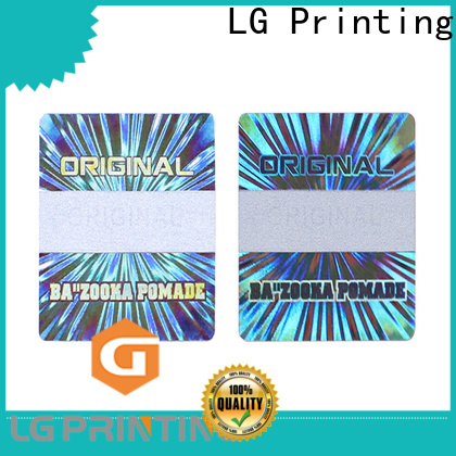 LG Printing silver sticker holograma for pharmaceuticals