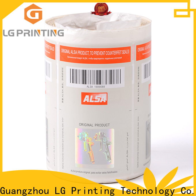 LG Printing counterfeiting genuine secure hologram factory for products