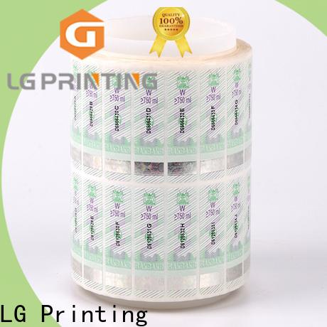 Custom security hologram label number company for bag