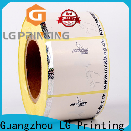 LG Printing Custom made buy hologram stickers cost for goods