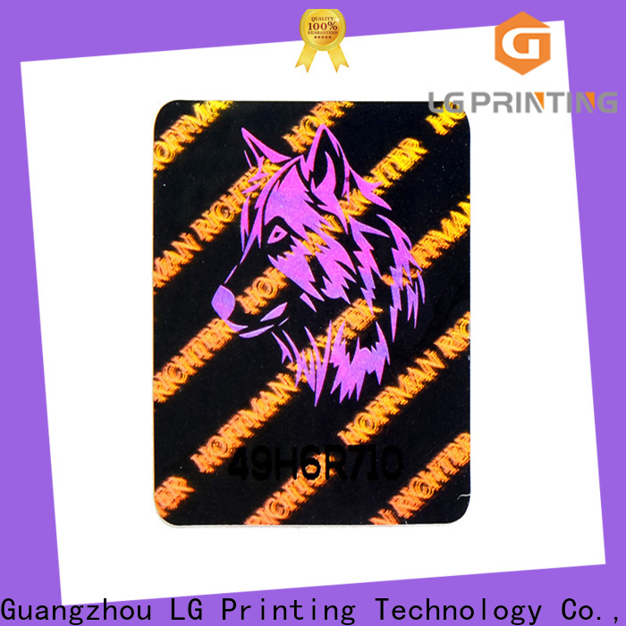 LG Printing Custom 3d hologram sticker manufacturers supply for electronics