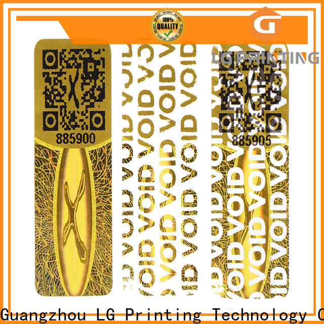 LG Printing Customized serial number sticker printing cost for skin care products