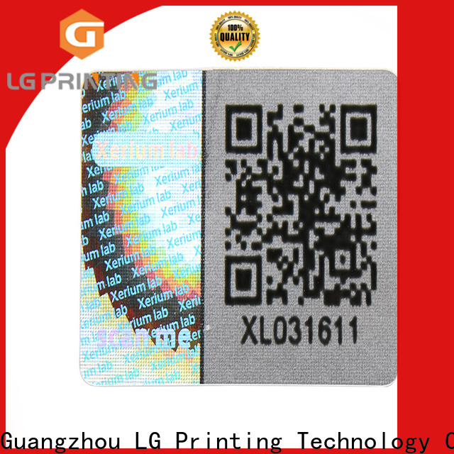 Customized custom made hologram stickers barcode suppliers for electronics
