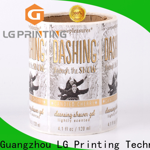 LG Printing Custom made self adhesive sticker paper vendor for jars