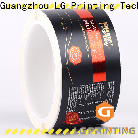 LG Printing bopp agricultural packaging materials wholesale for wine bottle