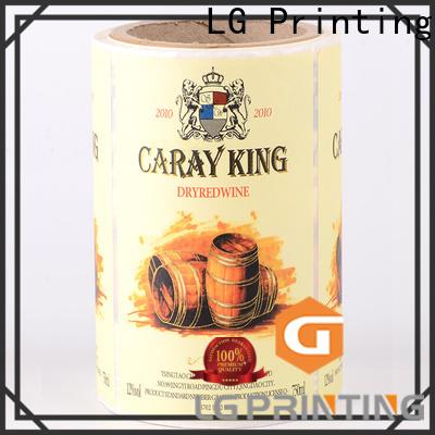 LG Printing Custom custom roll labels cost for jars