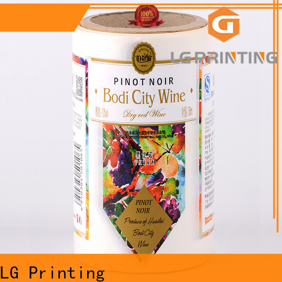LG Printing gold buy bottle labels company for cans