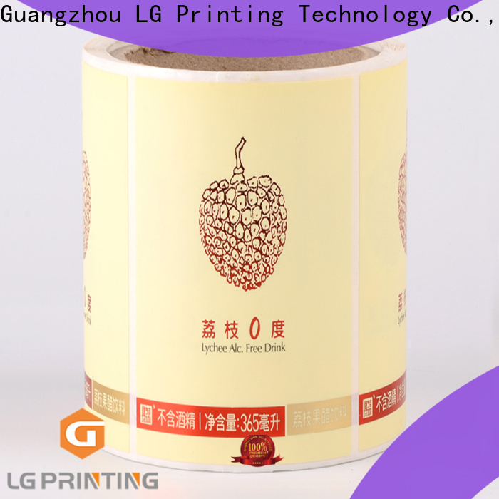 LG Printing silver label applicator factory price for cans