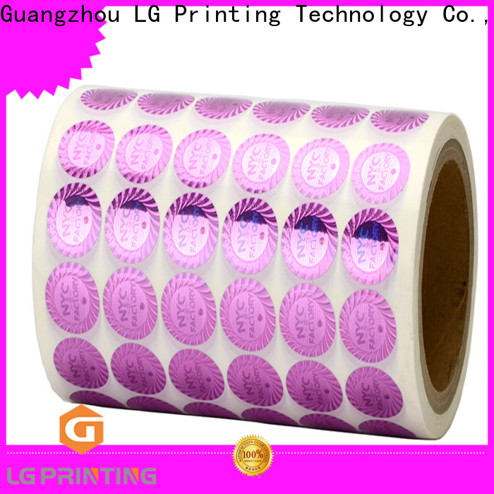 LG Printing Quality holographic material wholesale for cosmetics