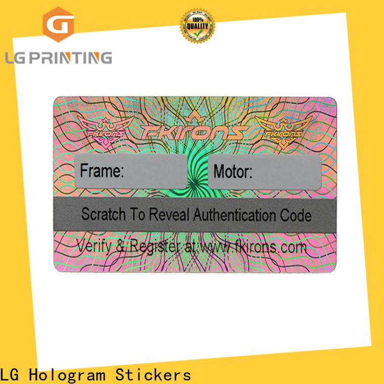 LG Printing Bulk buy holographic sticker custom factory price for pharmaceuticals