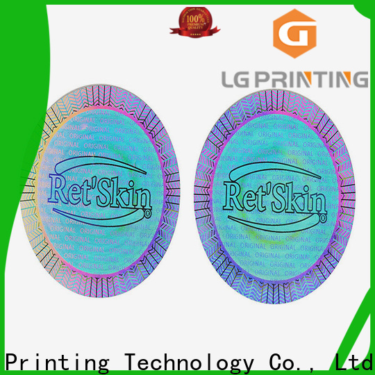 LG Printing Best custom security hologram stickers manufacturers for electronics