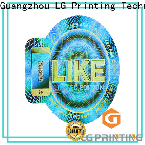 LG Printing High-quality security stickers factory for garment hangtag