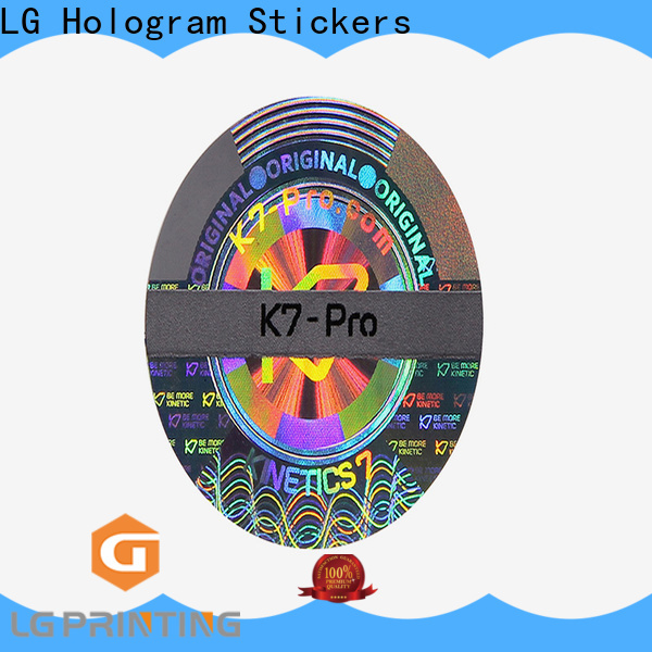 LG Printing quality personalized hologram stickers cost for skin care products