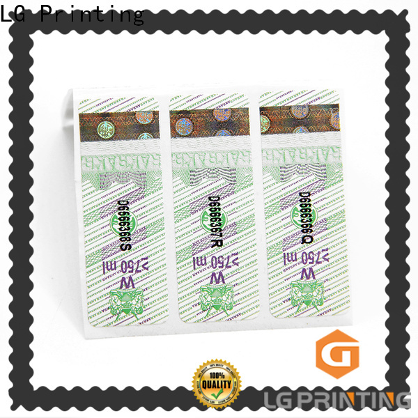 LG Printing waterproof sticker label supply for bottles