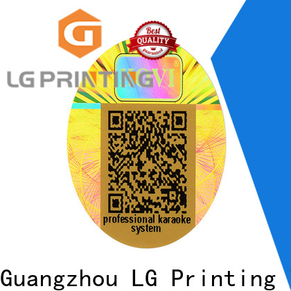 LG Printing foil vinyl stickers cost for electronics
