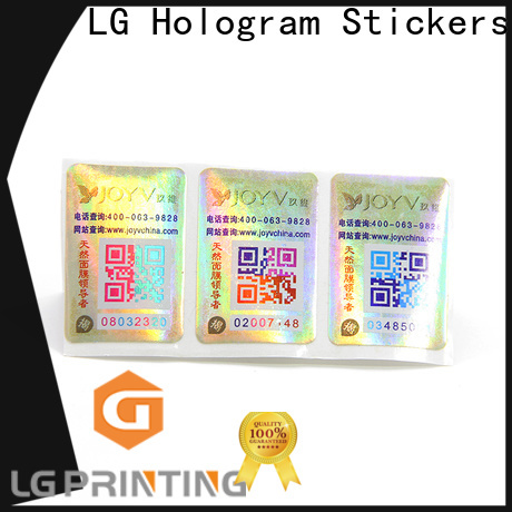 LG Printing vinyl adhesive labels suppliers for box