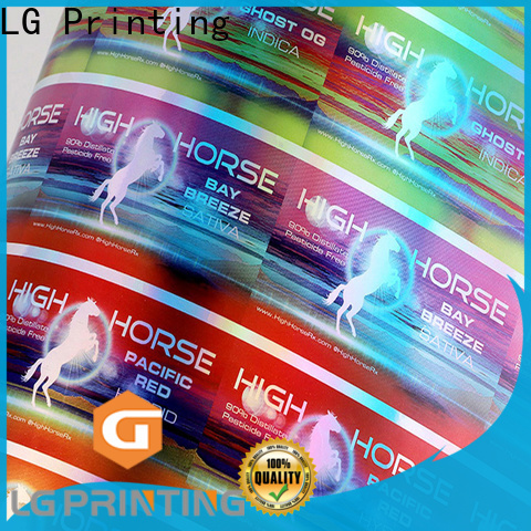 LG Printing Top 3d holographic stickers manufacturers for package