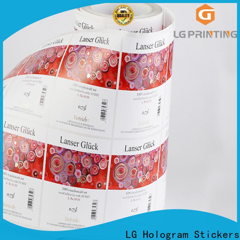 LG Printing Bulk flexible packaging material vendor for bottle