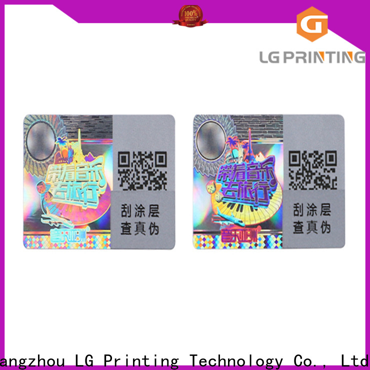 LG Printing Customized foil hologram stickers factory for skin care products