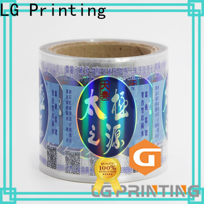 LG Printing Top hologram sticker price for plastic box surface