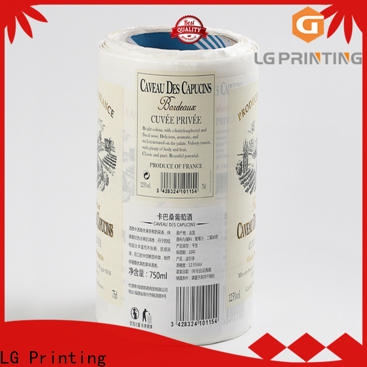 LG Printing Buy label company cost for bottle