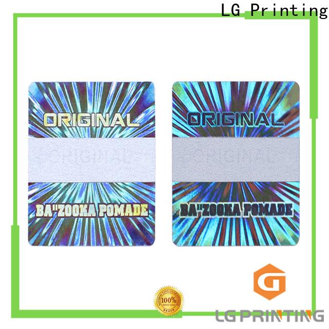 LG Printing waterproof sticker printing vendor for cosmetics