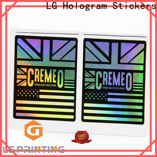 Buy custom holographic decals for package