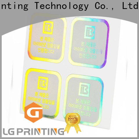 LG Printing Custom made holographic strips supply for bottle package