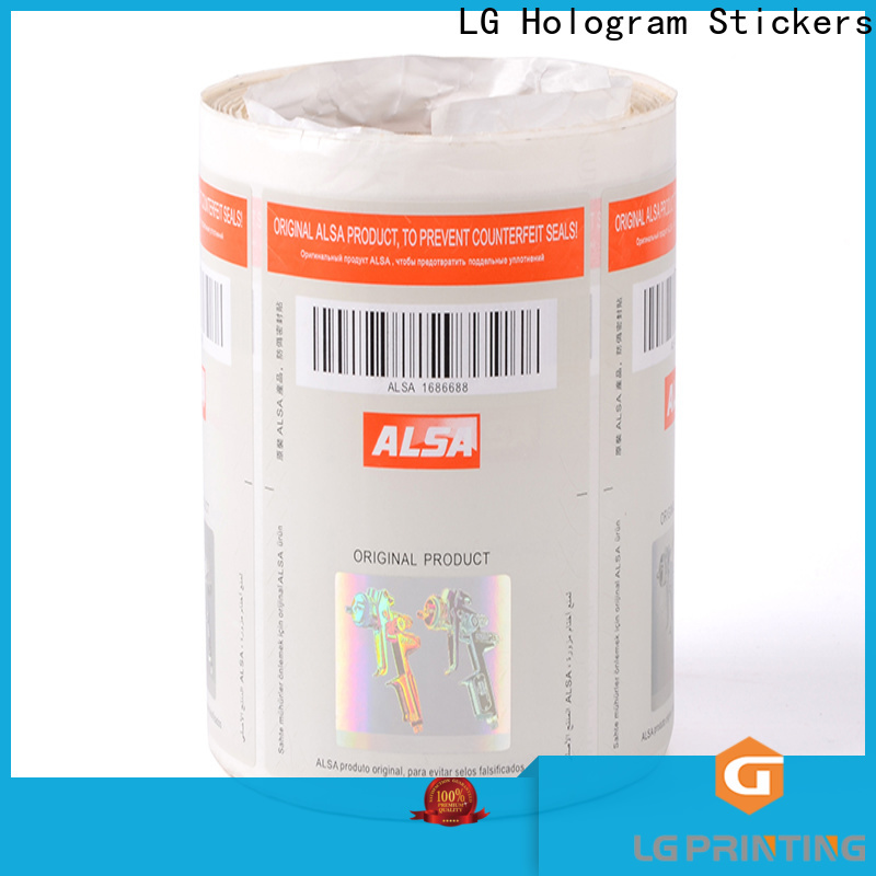 LG Printing Custom holographic labels suppliers wholesale for products