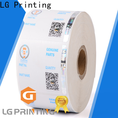LG Printing label personalised hologram stickers cost for bag