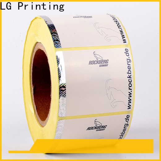 LG Printing foil holographic seal for bag