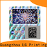 Top gold hologram sticker scratch off factory price for cosmetics