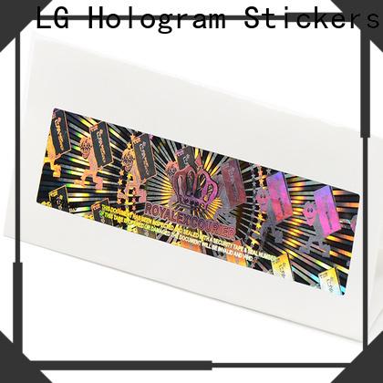 LG Printing gold hologramlı sticker suppliers for electronics