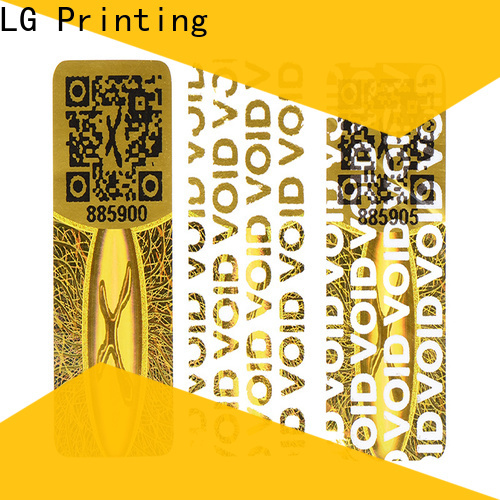 LG Printing High-quality print holographic stickers company for pharmaceuticals
