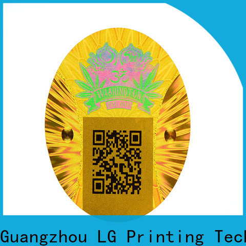 LG Printing numbering print your own hologram stickers suppliers for cosmetics