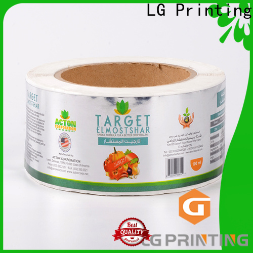 LG Printing bopp custom adhesive stickers suppliers for bottle