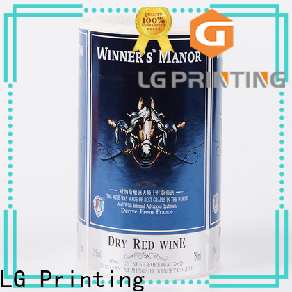 Customized vinyl label stickers pvc cost for bottle