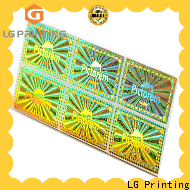LG Printing gold bulk custom stickers cost for skin care products