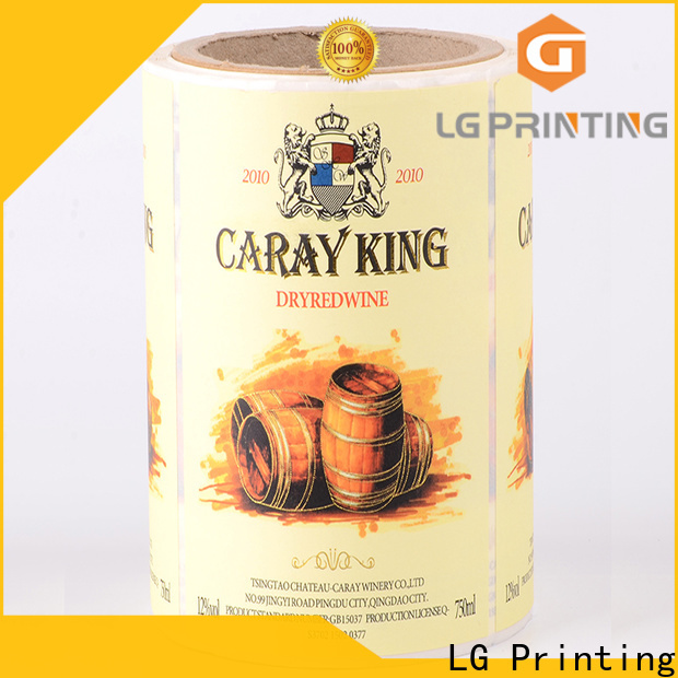 High-quality self adhesive labels for printing foil price for bottle